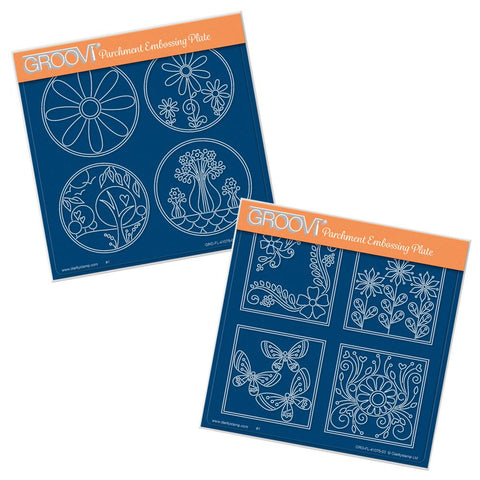 Tina's Layering Circles & Squares <br/>A5 Square Groovi Plate Set