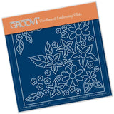 Tina's Flower Burst <br/>A6 Square Groovi Baby Plate