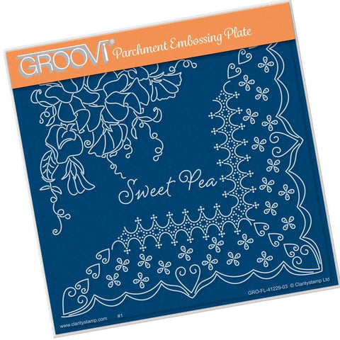 Linda's Sweet Pea & Lace <br/>A5 Square Groovi Plate