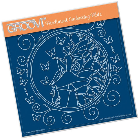 Fairy Daydream Round <br/>A5 Square Groovi Plate <br/>(Set GRO-FY-40976-03)