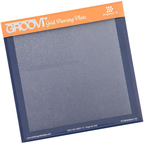 Diagonal Basic <br/>A5 Square Groovi Piercing Grid