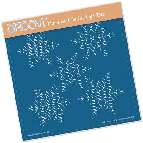 Large Snowflakes <br/>A5 Square Groovi Piercing Grid