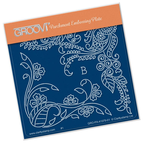 Tina's Henna Petites - B <br/>A6 Square Groovi Baby Plate