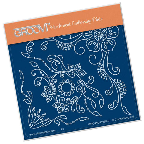 Tina's Henna Petites - E <br/>A6 Square Groovi Baby Plate