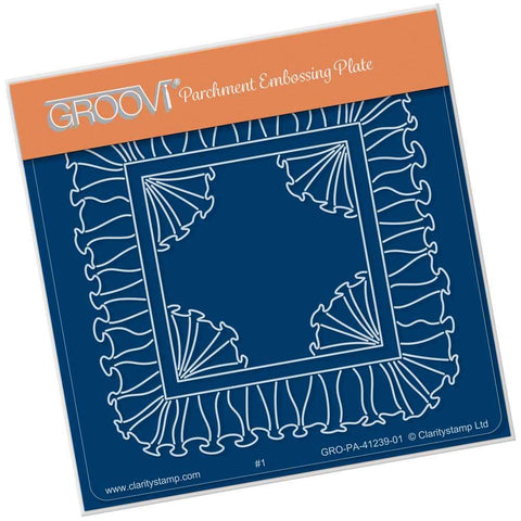 Linda's Frill <br/>A6 Square Groovi Plate