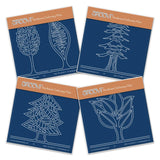 Abstract Trees A6 Square Groovi Baby Plate Set