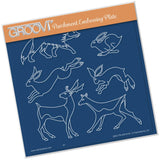 Woodland Animals <br/>A5 Square Groovi Plate <br/>(Set GRO-TR-40539-03)