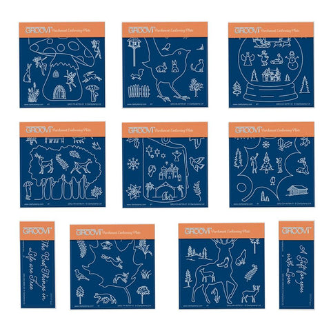 Festive & Woodland Quartets Bundle <br/>A6 Square Groovi Plate Set