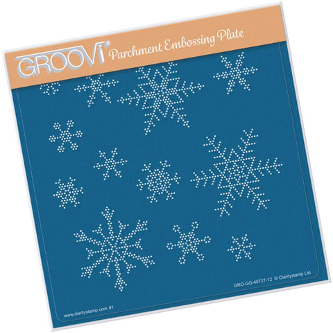 Small Snowflakes <br/>A5 Square Groovi Piercing Grid