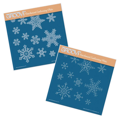 Small Snowflakes Duet <br/>A5 Square Groovi Plate & Grid Set