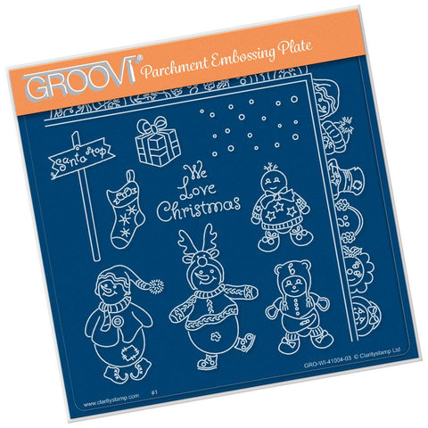Linda's Build a Snowbaby <br/>A5 Square Groovi Plate