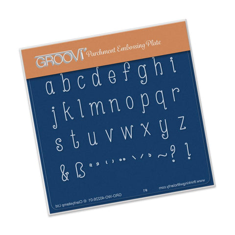 Alphabet - Lower Case A6 Square Groovi Baby Plate