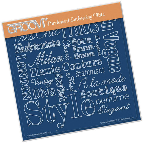 Elegant Expressions <br/>A5 Square Groovi Plate <br/>(Set GRO-40514-03)