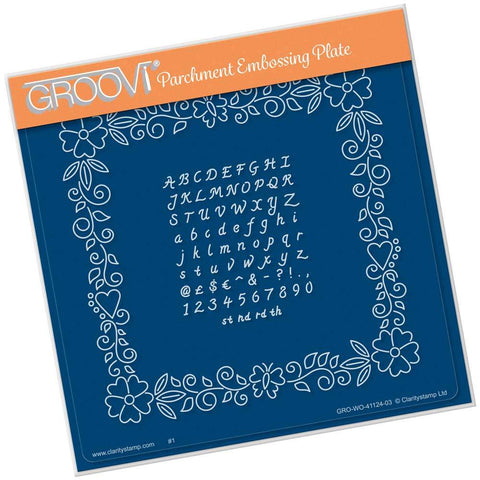 Josie's Floral Frame & Alphabet <br/>A5 Square Groovi Plate