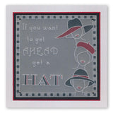 Hats 1 <br/>Groovi Border Plate <br/>(Set GRO-FA-40513-09)