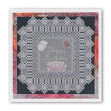 King's Lace Grids & Alphabet Collection <br/>A5 Square Groovi Piercing Grids & Groovi Border Plate Set