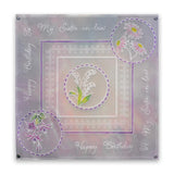 Linda's 123 Flowers - ABC Collection <br/>Daisy, Sweet Pea & Hydrangea <br/>A4 & A5 Square Groovi Plate Set