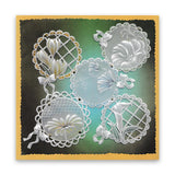 Linda's 123 Flowers - ABC <br/>Daisy, Sweet Pea & Hydrangea <br/>A4 Square Groovi Plate Set