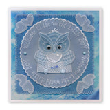 Linda's Owl Collection <br/>A4 Square Groovi Tem-plate Set