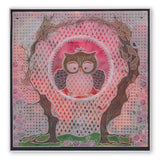 Linda's Baby Owl <br/>A4 Square Groovi Tem-plate <br/>(Set GRO-TE-40910-15)