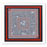 Leafy Swirl & Large Netting <br/>A5 Square Groovi Plate Set