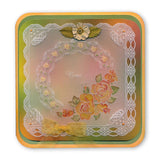 Linda's Roses & Lace <br/>A5 Square Groovi Plate