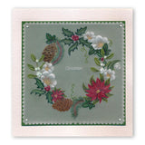 Linda's 123 Christmas - GH <br/>Poinsettia & Christmas Rose <br/>A5 Square Groovi Plate Set