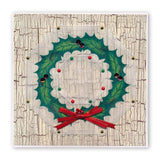 Linda's 123 Christmas - GH <br/>Poinsettia & Christmas Rose <br/>A4 Square Groovi Plate Set