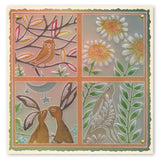Hare in the Meadow <br/> A5 Square Groovi Plate