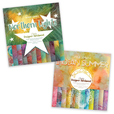 "Northern Lights & Indian Summer 8 x 8"" Designer Parchment Packs"