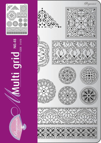 Multi Grid 48 Floral Ornaments 2 (31478)