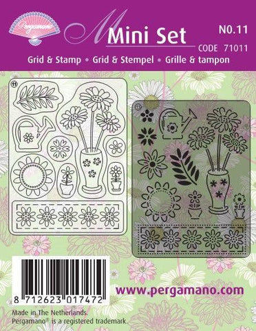 Mini Set Grid & Stamp 11 Spring Flowers (71011)