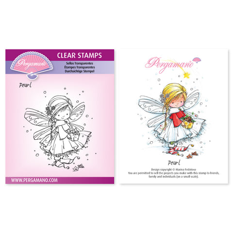 Christmas Poppets - Pearl Stamp <br/> Artwork by Marina Fedotova