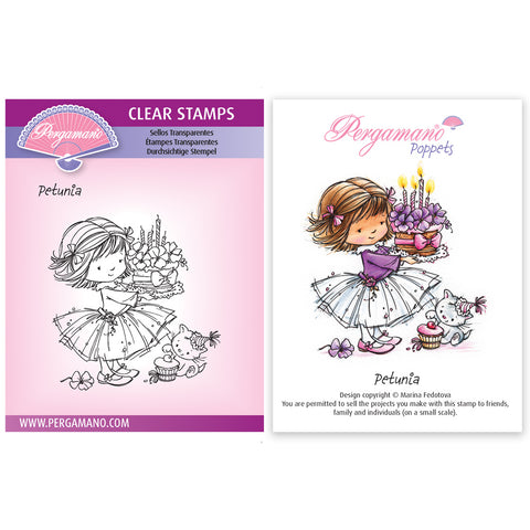 Flower Poppets - Petunia Stamp <br/> Artwork by Marina Fedotova