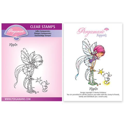 Whimsy Poppets - Pippin Stamp <br/> Artwork by Marina Fedotova