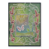 Happiness is as a Butterfly <br/>A5 Groovi Plate <br/>(Set GRO-WO-40543-04)