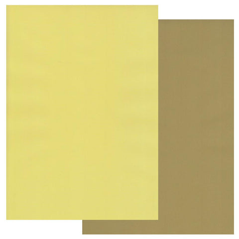 Olive Green & Primrose Yellow x10 <br/>Groovi Two Tone Parchment Paper A4