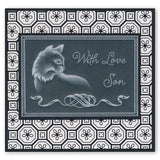 Cats & Leafy Frame <br/>A5 Square Groovi Plate Set