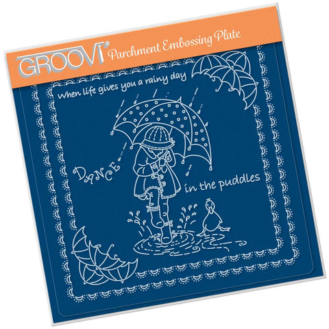 Linda's Children - Spring - Dance in the Puddles - A5 Square Groovi Plate