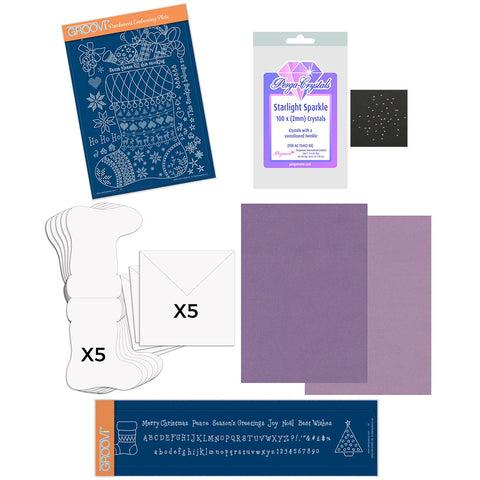 Linda Williams' Stocking Groovi Kit (Purple)