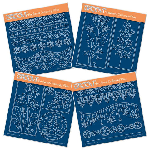 Tina's Christmas Layering Collection <br/>A5 Square Groovi Plate Set