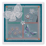 Tina's Butterfly Fun <br/>A5 Square Groovi Plate <br/>(Set GRO-AN-41015-03)