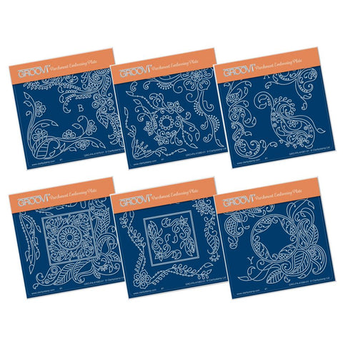 Tina's Henna Petites - Beauty Collection <br/>A6 Square Groovi Baby Plate Set