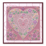 Tina's Heart Flowers Parchlet <br/>A6 Square Groovi Baby Plate