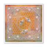 Tina's Hexagon Flowers Parchlet <br/>A6 Square Groovi Baby Plate