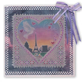 Tina's Doodle Dove Hearts <br/>A5 Square & Groovi Border Plate Set
