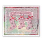 Twas the Night 12 - Bunting Stocking <br/>A6 Square Groovi Baby Plate
