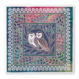 Woodland Owls <br/>A5 Square Groovi Plate