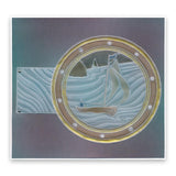 Sailor Round <br/>A5 Square Groovi Plate <br/>(Set GRO-PE-40977-03)