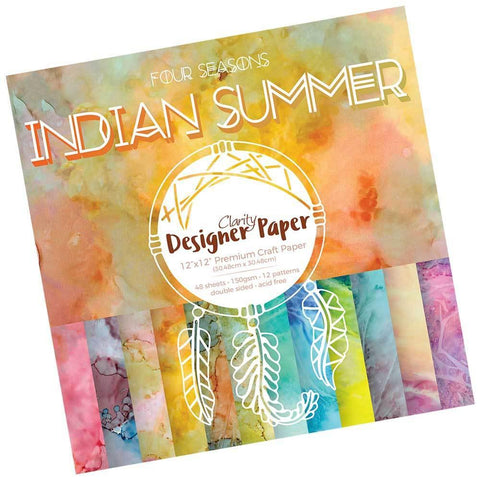 "Indian Summer Designer Paper Pack 12"" x 12"""